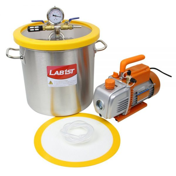 10. 5 Gallon Vacuum Degassing Chamber Kit with 5 CFM Pump - Not for Wood Stabilizing