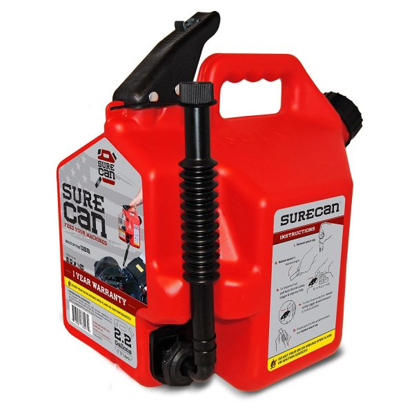 10. Crispo CRSUR22G1 2.2 gallon Surecan Gasoline Can