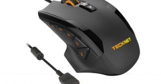 10. TeckNet HYPERTRAK High Precision Programmable Laser Gaming Mouse, 16400 DPI