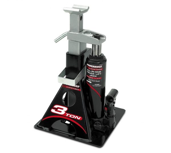 2. Powerbuilt 640912 All-In-One 3-Ton Bottle Jack with Jack Stand