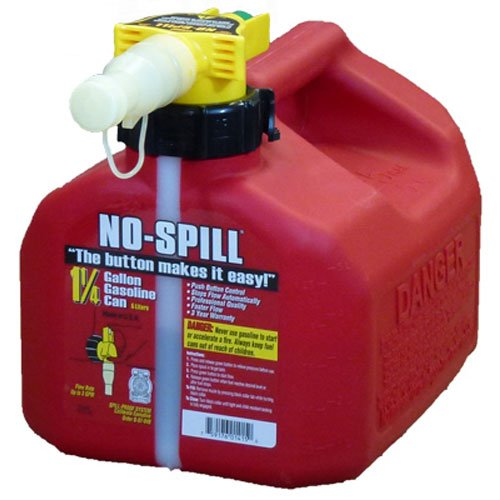 3. No-Spill Gallon Poly Gas Can (CARB Compliant)