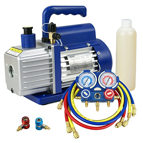 3. ZENY 3.5CFM Single-Stage Rotary Vane Vacuum Pump
