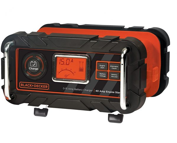 6. BLACK+DECKER BC15BD 15 Amp Bench Battery Charger with 40 Amp Engine Start and Alternator Check