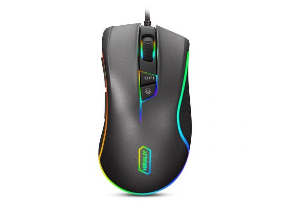 6. HIRALIY F300 Gaming Mouse Wired RGB Backlit 9 Programmable Buttons 5000 DPI Optical Sensor PMW3325