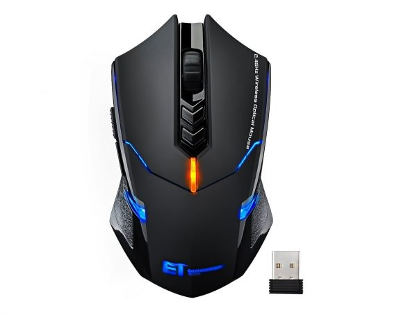 7. VicTsing Wireless Gaming Mouse with Unique Silent Click, Breathing Backlit