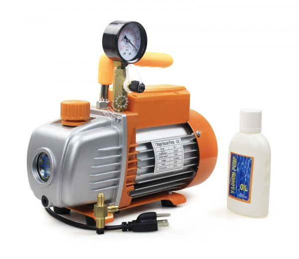 9. BACOENG 3.6 CFM 110V Single Stage Rotary Vane Vacuum Pump HVAC With Gauge