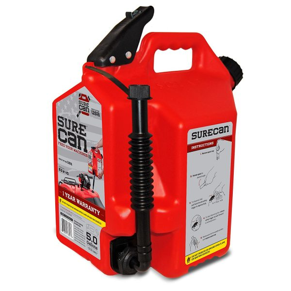 9. Crispo CRSUR5G1 5.0 gallon Surecan Gasoline Can