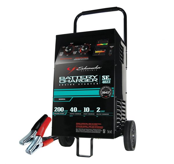 9. Manual Wheeled Battery Charger and Tester