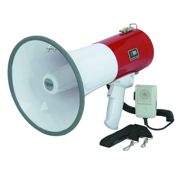 10. 50 Watt Megaphone with Safety Siren