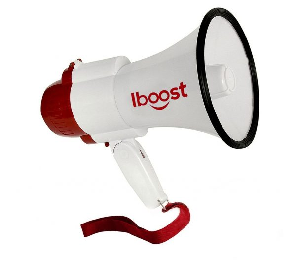 6. iboost BET1001 Indoor,Outdoor Megaphone Speaker PA Bullhorn & Siren