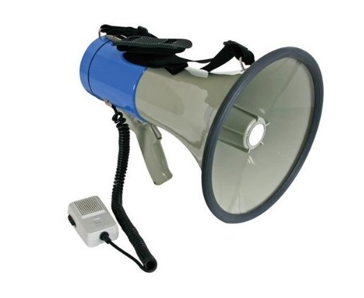 8. Velleman MP25SFM Power Megaphone, 1 Grade to 12 grade, 25W, 8 x 1.5V C Batteries