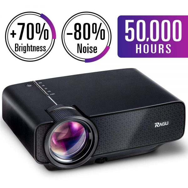 1. RAGU Z400 Mini Projector, Multimedia Home Theater Video Projector with