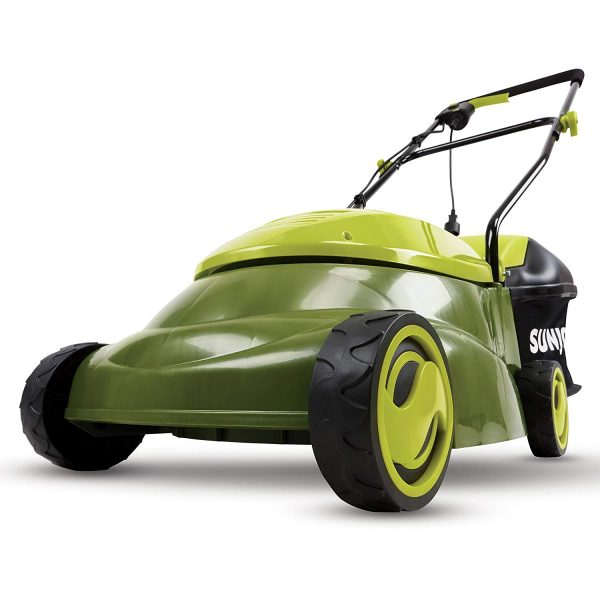 1. Sun Joe MJ401E Mow Joe 14-Inch 12 Amp Electric Lawn Mower With Grass Bag