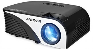 10. Andyer 805B-Plus Portable Projector LED Mini Projector Support HD