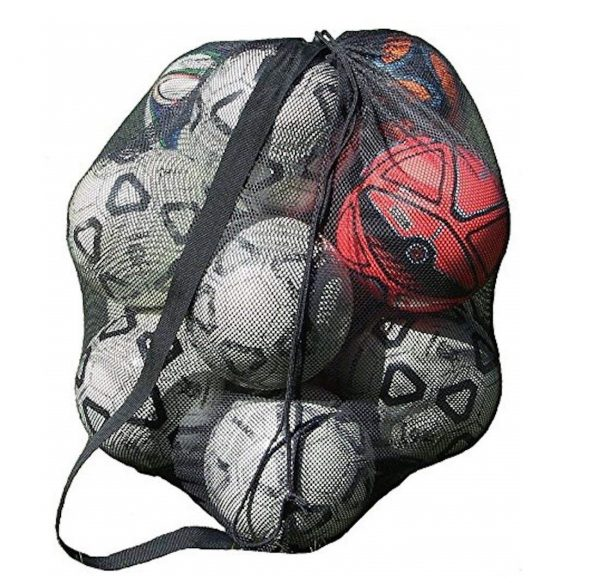 10. Mesh Ball Bag With Shoulder Strap. 30 x 40 Inches with a Drawstring Closure.