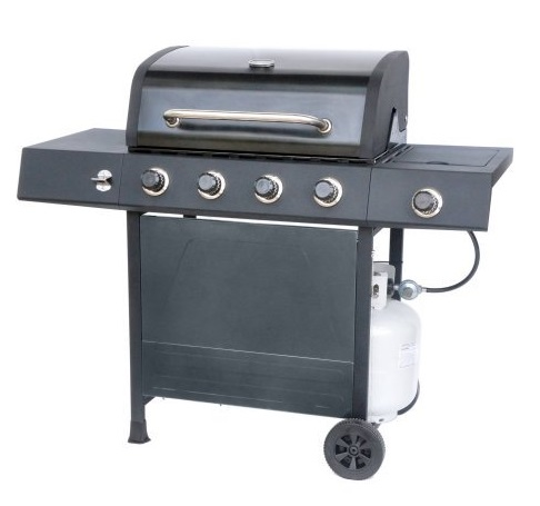 10. RevoAce 4-Burner LP Gas Grill with Side Burner, Pewter Fleck