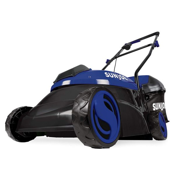 10. Sun Joe MJ401C-XR-SJB Mow Joe Cordless Lawn Mower, Blue