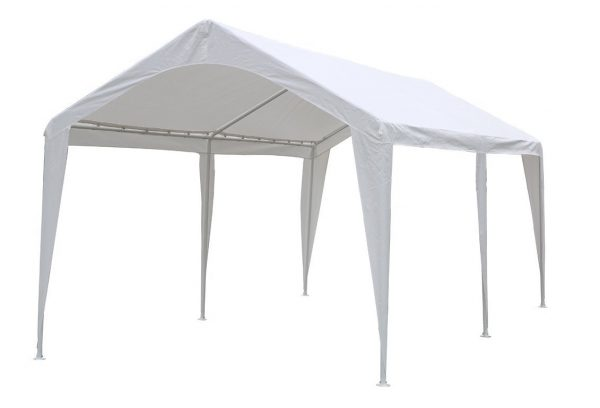 2. Abba Patio 10 x 20-Feet Outdoor Carport Canopy with 6 Steel Legs, White
