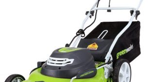 2. Greenworks 20-Inch 12 Amp Corded Lawn Mower 25022