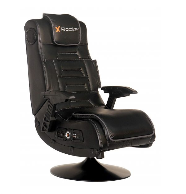 2. X Rocker 51396 Pro Series Pedestal 2.1 Video Gaming Chair, Wireless
