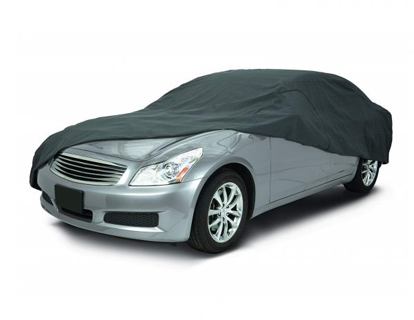 3. Classic Accessories 10-014-261001-00 OverDrive Polypro 3 Charcoal Full Size Sedan Car Cover