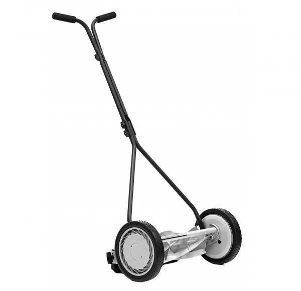 4. Great States 415-16 16-Inch Reel Mower Standard Full Feature Lawn Mower With T-Style Handle And Heat Treated Blades