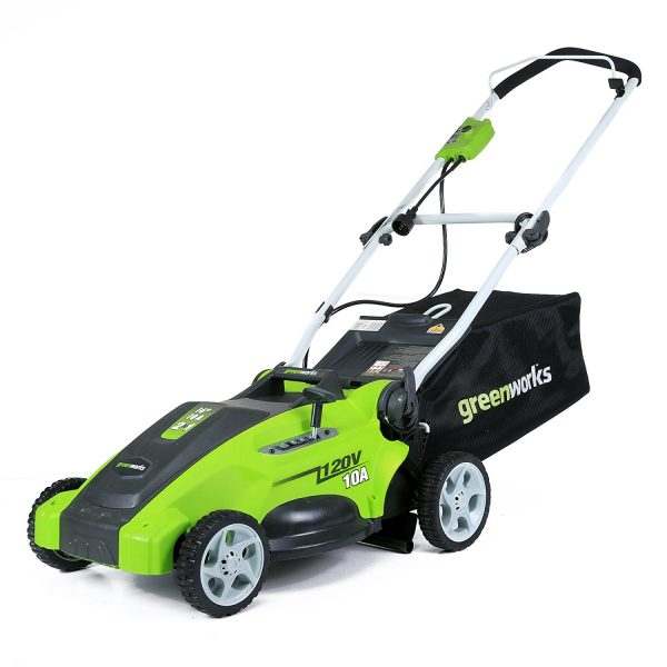 5. Greenworks 16-Inch 10 Amp Corded Lawn Mower 25142