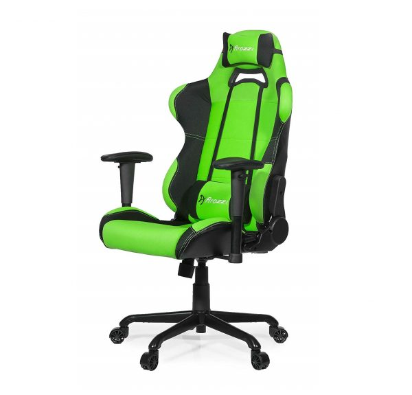 6. Arozzi Torretta Series Gaming Racing Style Swivel Chair, Green
