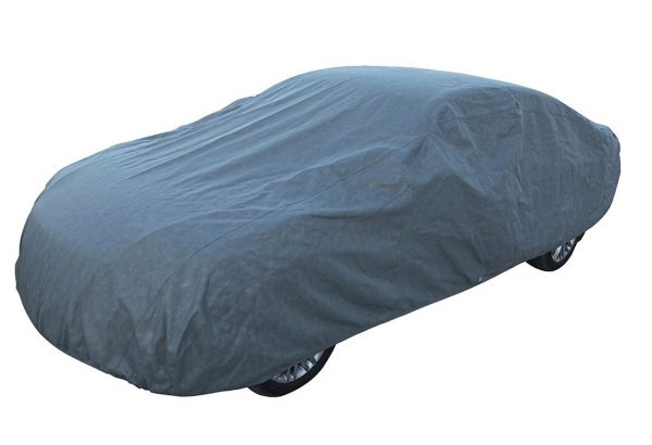 6. Leader Accessories Platinum Guard Gray 7 Layer Super Soft Car Cover with Cotton Outdoor Protect Against Scratch Cars up to 200''