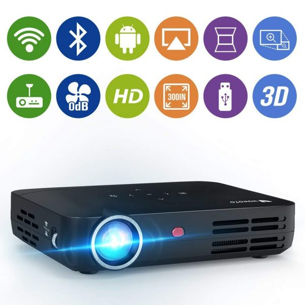 7. WOWOTO H8 Video Projector 1280x800 WXGA DLP Support 3D 1080P HD LED