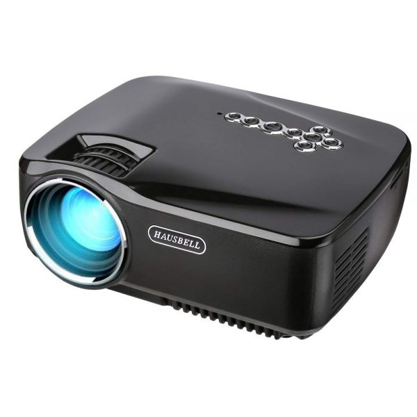 8. Projector, HAUSBELL 1500ANSI Lumens LED Luminous efficiency Mini Portable Video Projector