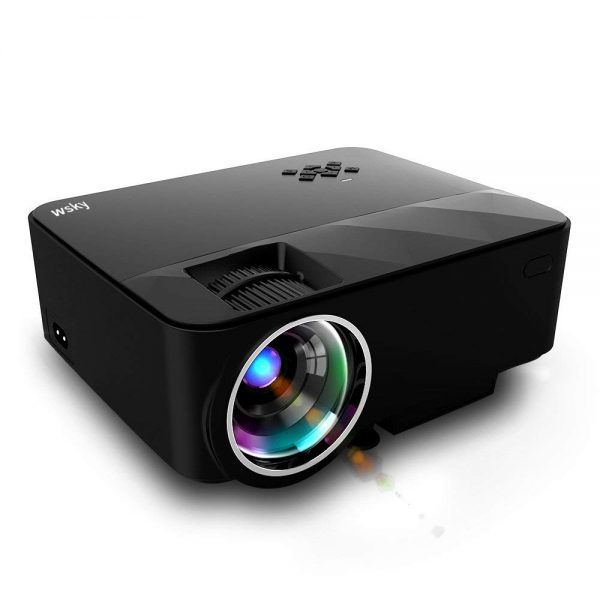 9. Wsky T21 1800 Lumens LCD LED Portable Video Projector