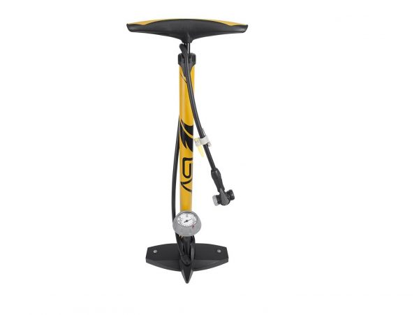 3. BV Bicycle Ergonomic Bike Floor Pump with Gauge
