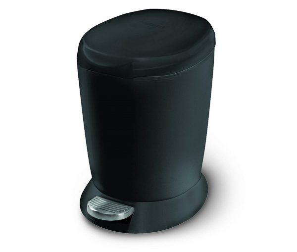 3. Gallon Compact Plastic Round Bathroom Step Trash Can