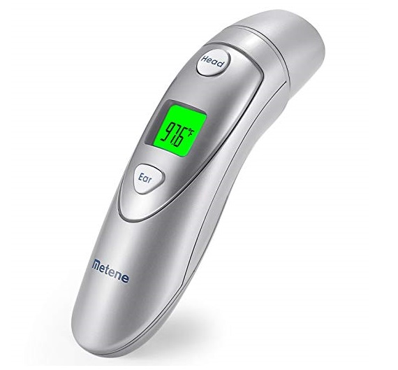 3. Metene Medical Forehead and Ear Thermometers ,Infrared Digital Thermometer Suitable for Baby, Infant