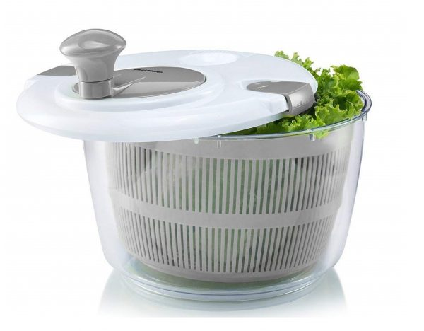 5. Gourmia GSA9240 Jumbo Salad Spinner - Manual Lettuce Dryer With Crank Handle