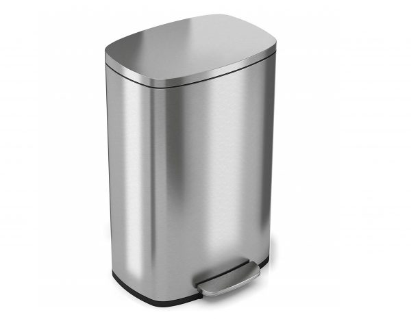 5. iTouchless SoftStep 13 Gallon Stainless Steel Step Trash Can