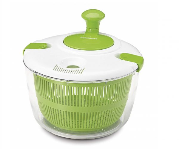 7. Cuisinart CTG-00-SAS Salad Spinner, Green and White