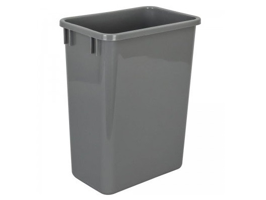 8. Hardware Resources CAN-35GRY Plastic Waste Container, Gray