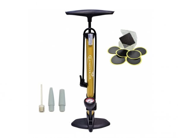 8. Lumintrail 160 PSI High Pressure Dual Valve Bike Floor Pump
