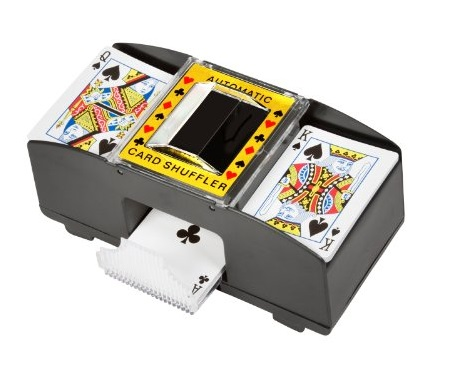 8. Trademark Innovations Card Deck Automatic Shuffler