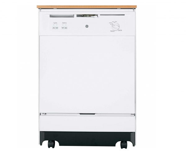 9. GE GSC3500DWW 24 White Portable Full Console Dishwasher