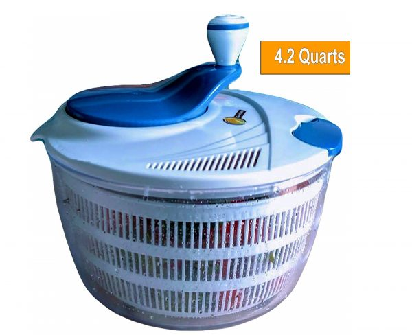 9. Salad Spinner Large 4.2 Quarts Serving Bowl Set
