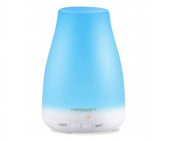 1. URPOWER 2nd Version Essential Oil Diffuser Aroma Essential Oil Cool Mist Humidifier with Adjustable Mist Mode