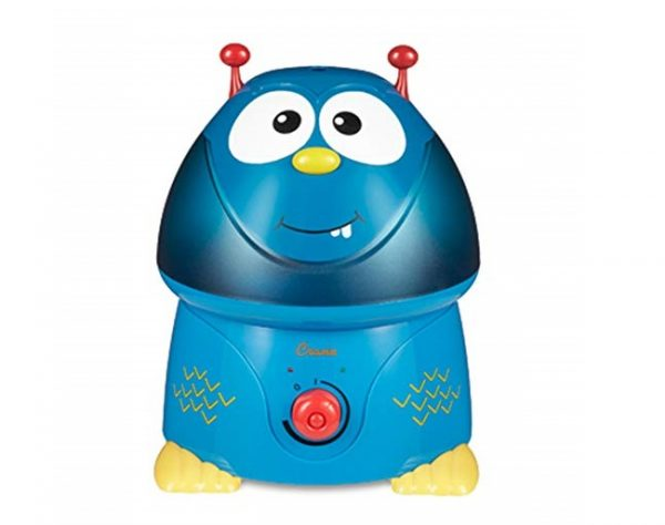 5. Crane USA Filter-Free Cool Mist Humidifiers for Kids, Blue Monster