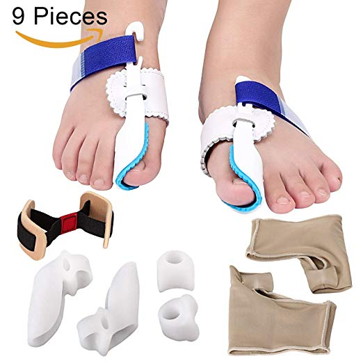 2. MAKARTT 9 in 1 Bunion Corrector & Bunion Relief Kit Treat Pain in Hallux Valgus