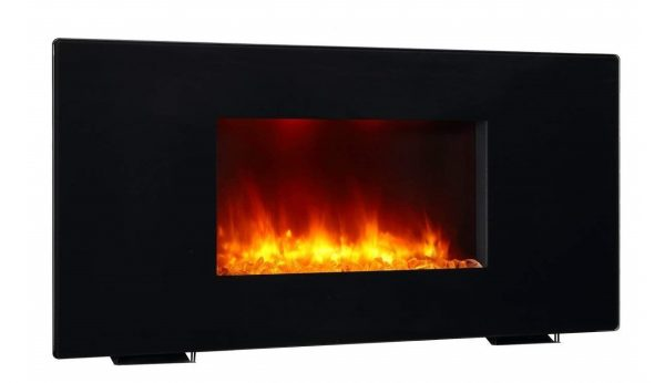 2. PuraFlame 36 Galena, Portable or Wall Mounted, Flat Panel Electric Fireplace with Remote, 1350W, Black