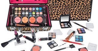 2. SHANY Carry All Makeup Train Case with Pro Makeup and Reusable Aluminum Case, Leopard