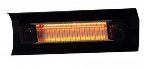 3. Fire Sense Indoor,Outdoor Wall-Mount Infrared Heater, Black