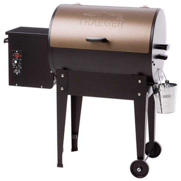 3. Traeger TFB29LZA Grills Junior Elite Wood Pellet Grill and Smoker - Grill, Smoke, Bake, Roast, Braise, and BBQ (Bronze)